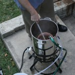 Starting the process of chilling the wort at 7:29pm.