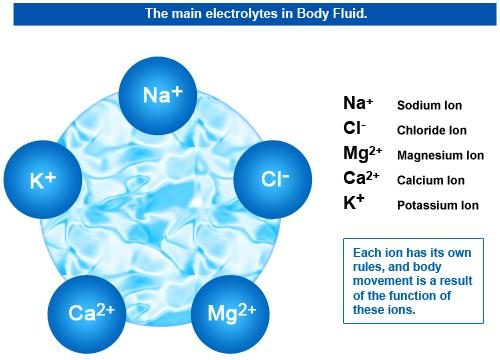 Body-fluid-electrolytes